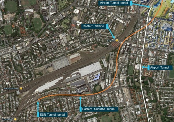 Figure 2: Eastern Suburbs Railway and Airport Line Tunnels.