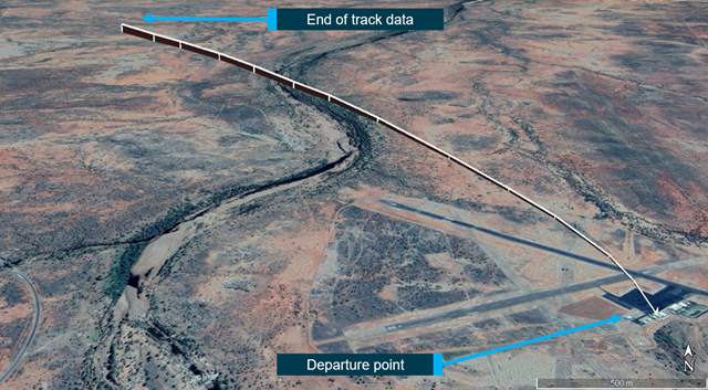 Figure 3: Accident flight GPS track.