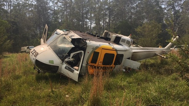 Hard landing involving Overseas Aircraft Support UH-1H helicopter, VH-OXI