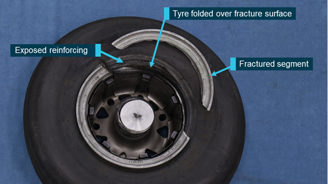 Undetected fatigue cracking results in wheel rim facture