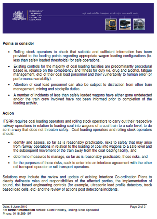 Appendix A – Rail Industry Safety Notice (RISN No. 32) (Page 2)